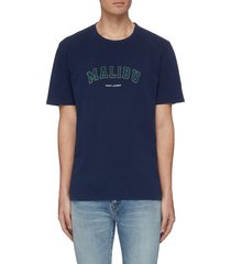 'malibu' slogan print t-shirt