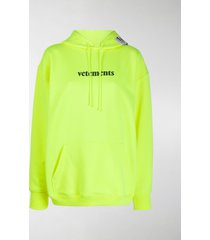 vetements oversized logo printed hoodie