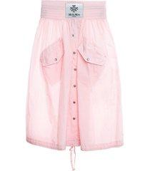 mr & mrs italy light crepe nylon skirt for woman