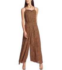 cece ruffled leopard-print jumpsuit