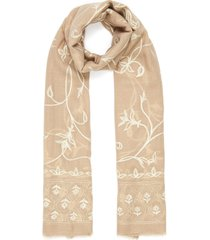 jaal print cashmere scarf