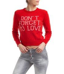maglione maglia donna girocollo don t forget to love