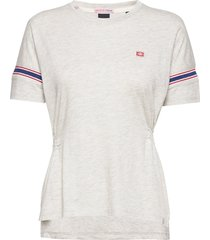amsterdams blauw women t-shirts & tops short-sleeved vit scotch & soda