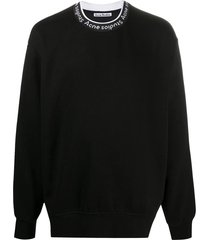 logo collar sweatshirt