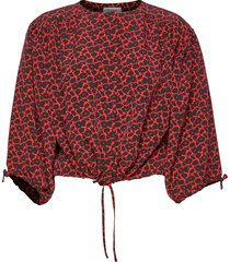 breeze mini blouse lange mouwen rood rodebjer