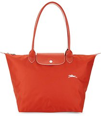 le pliage club leather-trimmed tote
