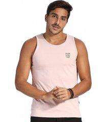 camiseta vlcs regata gola redonda rosa - rosa - masculino - algodã£o - dafiti