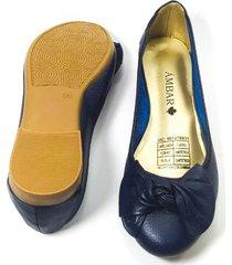 baleta moño elenny azul ambar lem
