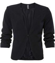 blazer cropped con maniche arricciate (nero) - rainbow