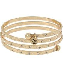 "jessica simpson stone textured coil bracelet, 8"""