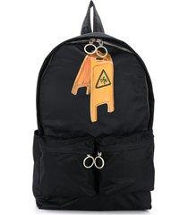off-white wet floor backpack - black