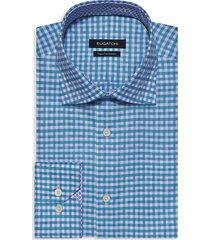 bugatchi men's slim-fit gingham dress shirt - emerald - size 17
