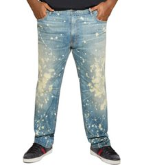mvp collections men's big and tall paint wash jean