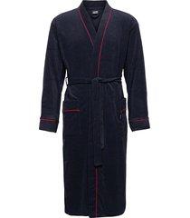 bath robe morgonrock badrock blå jockey
