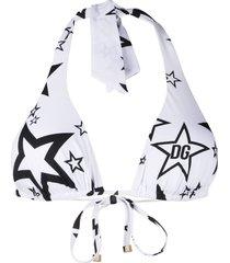 dolce & gabbana halter neck bikini top - white