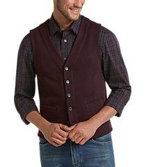 joseph abboud wine modern fit vest