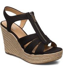 berkley wedge sandalette med klack espadrilles svart michael kors