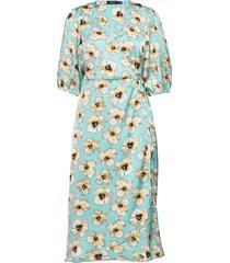 slisabeth dress knälång klänning blå soaked in luxury