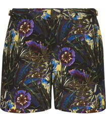 orlebar brown setter floral print swim shorts - black