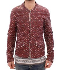 leather boxer print jacket coat