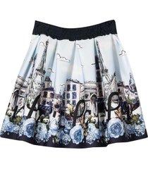 monnalisa blue skirt