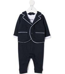 boss kidswear mock suit pajamas - blue