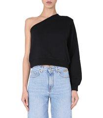 msgm one shoulder sweatshirt