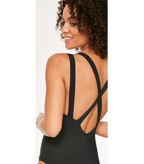 icon monaco non-wired cross back shaping one-piece swimsuit