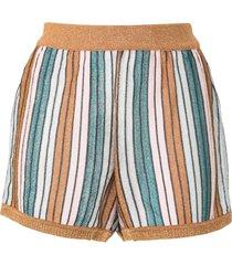 suboo lolita striped-knit shorts - multicolour