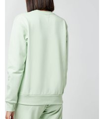 ps paul smith women's zebra sweatshirt - green - l