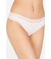 calvin klein striped-waist thong underwear qd3670