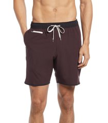 men's vuori banks hybrid shorts, size small - red