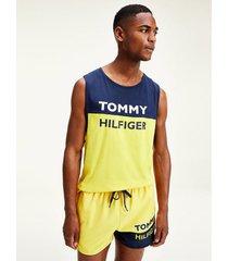 vestido de bano runner amarillo tommy hilfiger