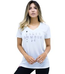 camiseta blanco under armour tech ssv graphic