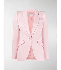 alexander mcqueen fitted single-breasted blazer