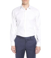 nordstrom trim fit non-iron dress shirt, size 17.5 - 32 in white at nordstrom