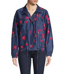 hollis floral print windbreaker jacket