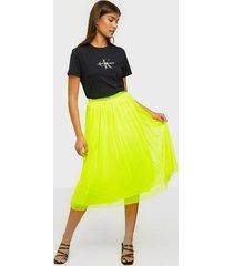 calvin klein jeans double layer mesh skirt midikjolar