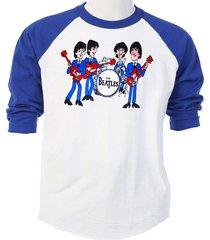 the beatles, retro cartoon band, cool, baseball size: t-shirt, s-5x, t-568