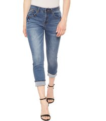 jeans wados crop denim azul - calce ajustado