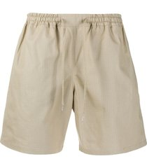 a kind of guise slim-fit track shorts - neutrals