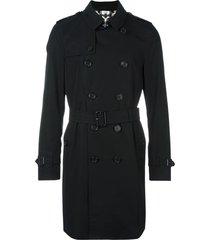 burberry the sandringham - long trench coat - black