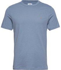 danny 100 t-shirt t-shirts short-sleeved blå farah