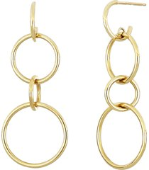 women's bony levy 14k triple hoop drop earrings (nordstrom exclusive)
