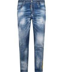 dsquared2 side panel detail jeans