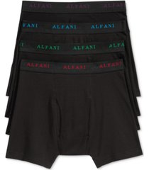 alfani men's 4 pack. cotton boxer briefs, created for macy's