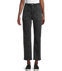 driftwood women's ankle-cropped paperbag jeans - washed black - size 24 (0)