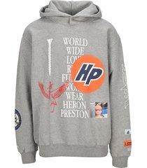 heron preston collage hoodie