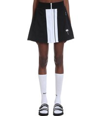 palm angels skirt in black cotton