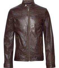 leather jacket läderjacka skinnjacka brun lindbergh